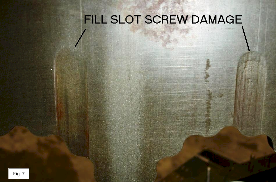 mold plate damage fill slot screw
